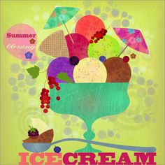my icecream illustration as a poster