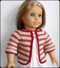 Knitting Pattern - Matilda Cardigan Sweater For American Girl, Gotz 18 Inch Doll