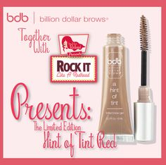 Billion Dollar Brows & How to be a Redhead will be presenting the Hint of Tint for #redheads in each participating city on the Rock it like a Redhead Beauty Tour! #RILAR2015 #HowtobeaRedhead #RedheadEyebrows