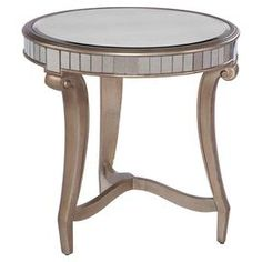 Celine Mirrored End Table