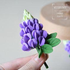 Beauty gift Purple Flower Jewelry Lupin Flower Hair clip