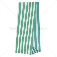 Green Stripe Pick n Mix Paper Bags