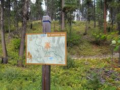 Whitefish MT, map sign Trail Signs, Whitefish, Map, Location Map, Maps