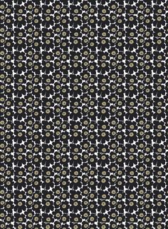 Mini Unikko cotton fabric by Marimekko