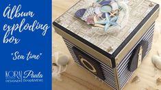 Exploding Box Card, Explosion Box, Decorative Boxes, The Creator, Bows, Album, Sea, Instagram, Etsy