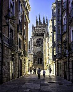 The Cathedral of Saint Mary of Burgos is a Catholic church dedicated to the Virgin Mary located in the Spanish city of Burgos. Its official name is Santa Iglesia Catedral Basílica Metropolitana de Santa María de Burgos.