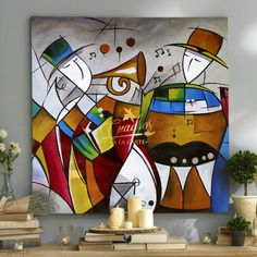Decorative oil paintings on request. - Cuadros a la Carte - - Decorative oil paintings on request. - Cuadros a la Carte Crazy Wallpaper, Cubism Art, Jazz Art, Coloring Book Art, Music Painting, Art Corner, Abstract Wall Art, Pop Art, Art Drawings