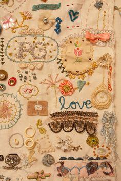 Pam Garrison #fabric #art #journal