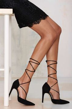 The Mode Collective Olivia Lace-Up Suede Pump | Shop Shoes at Nasty Gal!