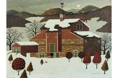"Lot 2234 - Charles Wysocki (American, 1928-2002), ""Pennsylvania Farmer,"" circa 1966, oil on canvas, signed"