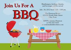 Picnic BBQ Family Gathering Invitation Digital by jessica91582, $10.00