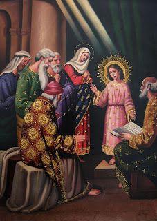 El Niño Jesús perdido y hallado en el templo.