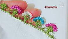 fistikli-cicekli-tig-modeli-oya Crochet Garland, Crochet Trim, Crochet Lace, Piercings, Crochet Borders, Needlework, Tassels, Diy And Crafts, Crochet Earrings