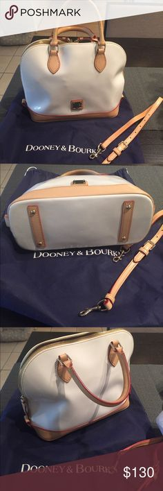 Dooney &Burke handbag Rich cowhide coated with a young and playful high shine surface Dome shape with optional shoulder strap with lined feet Dooney & Bourke Bags Satchels