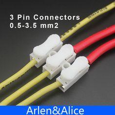 100 Pz 3 pin spingere rapido connettore del cavo Terminale di Cablaggio terminale 10A 250 V