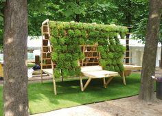 Patrick's Day Inspired Wedding Ideas Street Furniture, Garden Furniture, Outdoor Furniture Sets, Luxury Furniture, Eco Buildings, Outdoor Chairs, Outdoor Decor, Urban Farming, Fauna