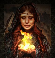 Brigid - Celtic goddess associated with the flame and new life