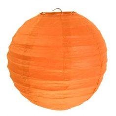 Lanternes Boule Chinoise Papier Orange 30 cm les 2