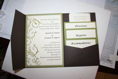 Danielle's Wedding Invitation. Generally @ $6.00/invitation without envelope. Adele 203-520-3813 to order or frostdonald@sbcglobal.net