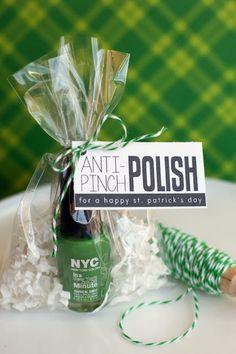 Anti-Pinch Polish - cute St. Patty's gift idea