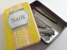 Tutorial: Make a magnetic manicure gift set -- Dollar Store Craft! Fun mother's day gift?