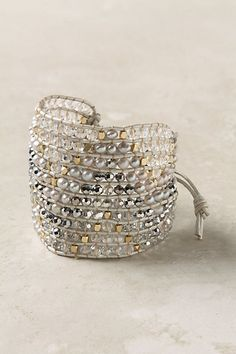 Bead and leather cuff.