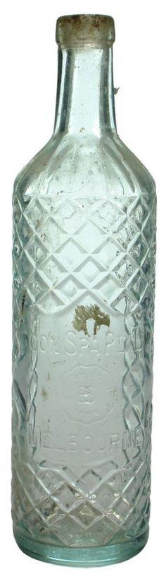 """Boon Spa Pty Ltd, Melbourne. Fancy """"wicker"""" design. Vintage cordial bottle. c1930s-1940s"""