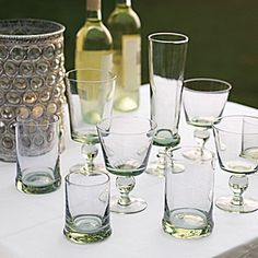 Swazi Recycled Glass Tumblers #serenaandlily (perfect for a lady's night with white wine...)