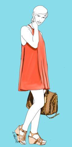 8 Tipps für altersgerechte Kleidung #Ü40 #Ü50 #Ü60 - Je mehr Haut Sie zeigen, desto weniger figurnah sollte der Schnitt der Kleidung sein: Meine Blogger-Kollegin Conny zeigt zwar an Armen und Beinen viel Haut, das weite A-Linien-Hängerchen und die straffen Konturen sorgen aber dafür, dass der Look auch mit über 40 Jahren für die Freizeit angemessen wirkt.