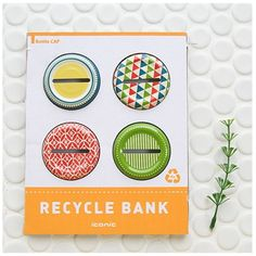 The Recycle Coin Bank Bottle Cap is one of many adorable and functional products in the MochiThings collection. Discover and learn more about it today! Snapple Bottle Crafts, Bottle Cap Crafts, Recycled Bottles, Recycled Art, Coin Jar, Key Covers, Bottle Top, Jar Lids, Stationery Design