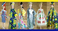 Creations, specializes in one-of-a-kind doll designs, formed by fashion designer, Mario Paglino and graphic art director, Gianni Grossi. Barbie Skipper, Expo, Ooak Dolls, Graphic Art, Bye Bye, Fairy Tales, Mermaid, Unique, Summer