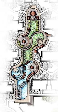 Architecture Design Concept, Landscape Architecture Drawing, Landscape Design Plans, Garden Design Plans, Pavilion Architecture, Landscape Drawings, Masterplan, Garden Planning, Planer