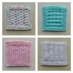 Ravelry: Baby Bonding Squares pattern by marianna mel Knitted Squares Pattern, Knitted Washcloth Patterns, Baby Cardigan Knitting Pattern Free, Knitting Squares, Baby Boy Knitting Patterns, Free Baby Blanket Patterns, Baby Hats Knitting, Knitted Baby, Baby Patterns