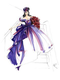 Vivienne westwood fashion sketches of dresses