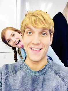 elizabeth lail and scott michael foster on set, october 10th 2014