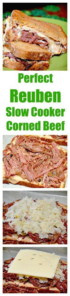 Slow Cooker Corned Beef Hash & Reuben Sandwiches #slow cooker #St. Patricks Day #Corned Beef #Reuben Sandwiches
