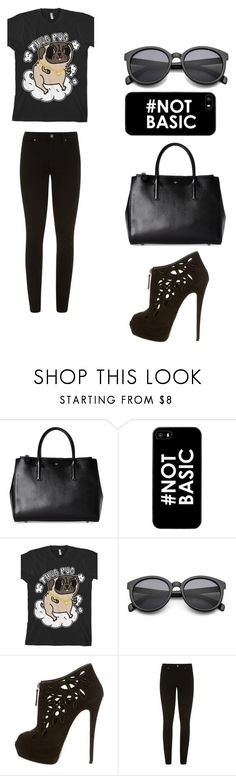 """""""#NOTBASIC"""" by amybeliebs on Polyvore featuring Anya Hindmarch, Giuseppe Zanotti and Paige Denim"""