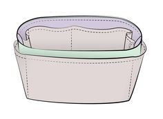 Free sewing pattern for Purse Organizer Insert. DIY Instructions included.