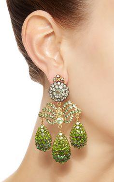 Tsavorite Chandelier Earrings by Sylvie Corbelin.
