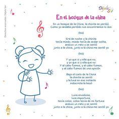 *Letras de Canciones infantiles. - EduInf35 Spanish Lessons For Kids, Preschool Spanish, Preschool Songs, Spanish Activities, Teaching Spanish, Teaching Kids, Songs For Toddlers, Kids Songs, Poetry For Kids
