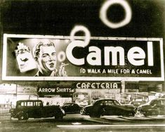 vintage everyday: Vintage Smoking Camel Signs in Times Square, NYC from the…