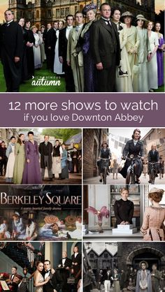 If you have Downton Abbey withdrawals, this post is for you! 12 more shows, miniseries, and period pieces to watch like Downton!