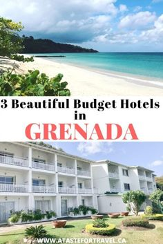 You don't need to suffer in a grim or unsafe room in the Caribbean if you're on a budget. These three hotels, apartments and resorts in Grenada are easy on the budget, clean and just steps to beautiful Grand Anse Beach. #Caribbean #budget #travel Beach Vacation Spots, Dream Vacations, Budget Hotels, Budget Travel, Travel Tips, Travel Guides, Places Around The World, Around The Worlds, Find Cheap Hotels