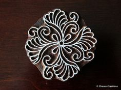 Indian Handmade wood stamps are a unique combination of Art, Skill & Functionality! This lovely wood stamp features a custom designed Floral Indian Block Print, Indian Prints, Indian Textiles, Ancient Indian Art, Beton Diy, Stencils, Stamp Carving, Wood Stamp, Wood Blocks