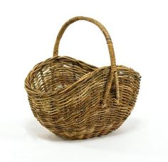 Cottage Rattan Knitters Basket