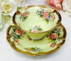 E B Foley teacup and saucer. Vintage Cups, Vintage Tea, Tea Cup Saucer, Tea Cups, China Cups And Saucers, Rose Tea, High Tea, Tea Time, Tea Party