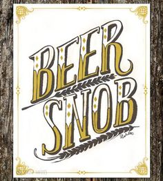 Beer Snob Art Print by Sarah Watts would look great on the wall. We do love our tasty craft brews at Moshi.