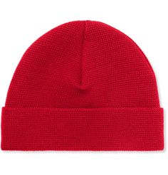 AMI founder, Mr Alexandre Mattiussi, is known for his penchant for red beanie hats, so it's fitting that the brand has a bold version to offer. Knitted from soft merino wool, this clean-lined piece delivers quality and unbeatable cool.