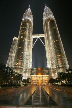 Petronas Twin Towers Singapore Malaysia, Towers, Southeast Asia, Marina Bay Sands, Night Life, Skyscraper, Exterior, World, Building