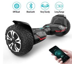 Gyroor Hoverboard Warrior inch All Terrain Off Road Hoverboard with Music Speakers and LED Certified Self Balancing Hoverboards Best Electric Scooter, Electric Skateboard, Electric Vehicle, Jerry Can Mini Bar, Off Road Camper Trailer, Remote Control Boat, Men's Backpacks, Go Kart, Offroad